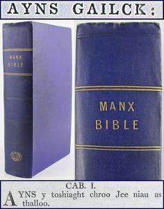 MANX GAELIC Bible*1819* in Isle of Man-GAELG/New/Old Testament Celtic Language/bible Manx Language, Old Testament, Isle Of Man, Celtic, Scotland, Fishing, Bible, Things To Sell, Biblia