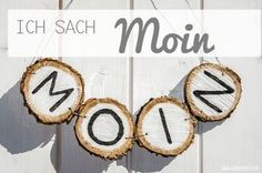 Türschild aus Astscheiben / Door sign made of slices of a branch / Upcycling