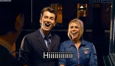 Hear a knock on the door, hope you see these two when you open it... LOL (gif)