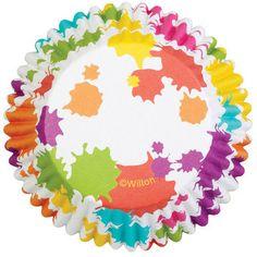 Paint Splatter Foil Cupcake Liners - No Fade Cupcake Liners 415-0625