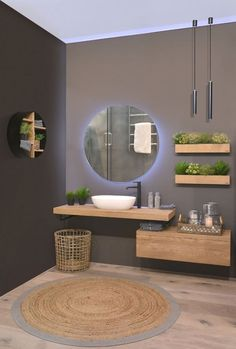 Bathroom furniture in solid oak. This is a combination of solid oak - . - Bathroom furniture in solid oak. This is a combination of solid oak – # Bathroom furniture # - Bad Inspiration, Bathroom Inspiration, Modern Bathroom, Small Bathroom, Serene Bathroom, Moroccan Bathroom, Master Bathrooms, Dyi Bathroom Remodel, Bathroom Makeovers