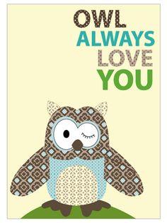 For owl themed kids room