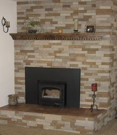 Marvelous Useful Tips: Cottage Fireplace Corner fireplace design 2 story.Raised Log Burner Fireplace electric fireplace with bookshelves. Fake Fireplace Mantles, Fireplace Fronts, Log Burner Fireplace, Stucco Fireplace, Fireplace Frame, Cottage Fireplace, Fireplace Seating, Fireplace Bookshelves, Fireplace Garden