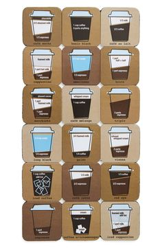 Free shipping and returns on Design Ideas 'Coffee Mixology' Magnets (Set of 18) at Nordstrom.com. Remind yourself of all of the options with coffee-themed refrigerator magnets that also make a perfect gift for your favorite coffee fanatic.