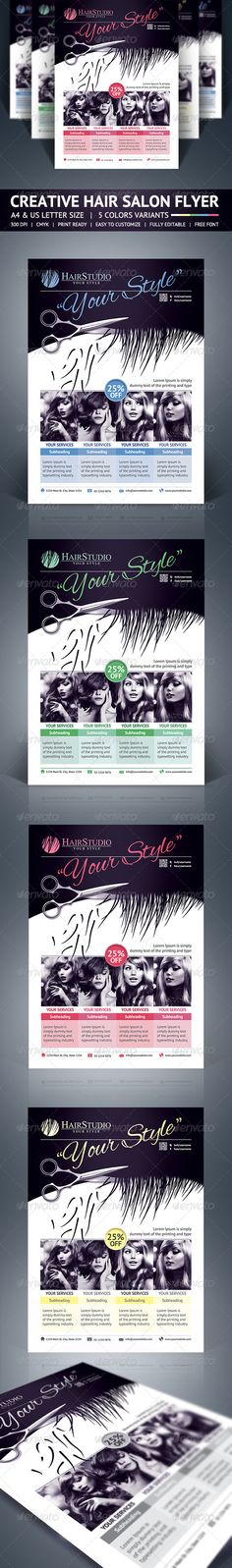 City Hair Salon Promotional Flyer Promotional flyers, Print - hair salon flyer template