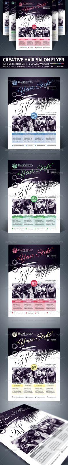 City Hair Salon Promotional Flyer  Promotional Flyers Print