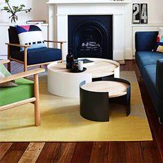 RONDE BIJZETTAFELS @ SOOO.nl Bestel @ http://www.sooo.nl/store/product/ronde-bijzettafe…grijs-wit-design/