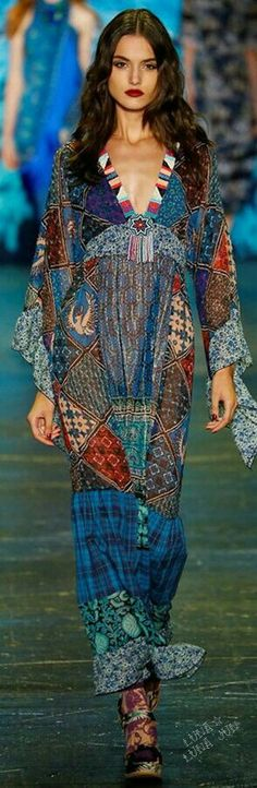Boho paisley Dress Anna Sui 2016