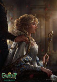 The Witcher/ False Ciri/ Gwent Card/ Nilfgaard Fantasy Girl, Fantasy Queen, 3d Fantasy, Medieval Fantasy, Fantasy Princess, Fantasy Couples, Final Fantasy, Fantasy Names, Dark Fantasy
