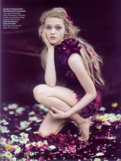Sasha Pivovarova photographed by Paolo Roversi - Vogue India: October 2007 - Enchanted Garden  (via: cross-stained)