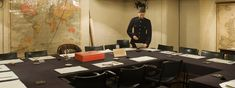 The War Cabinet Room in the wartime bunker that sheltered Churchill and his government during the Blitz.