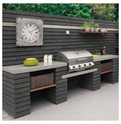 Outdoor Grill Area, Outdoor Grill Station, Outdoor Bbq Kitchen, Outdoor Kitchen Countertops, Backyard Kitchen, Bbq Area, Outdoor Kitchen Design, Backyard Bbq, Patio Design
