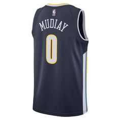 bfa2014e7cb Emmanuel Mudiay Icon Edition Swingman Jersey (Denver Nuggets) Men s Nike NBA  Connected Jersey - Blue