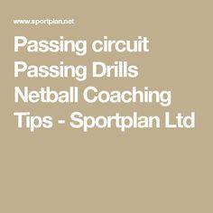 Passing circuit Passing  Drills  Netball  Coaching Tips  - Sportplan Ltd