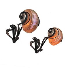 Pair of Art Nouveau Nautilus Shell Wall Lights, Early 20th Century | 1stdibs.com