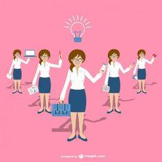 Personaje mujer de negocios