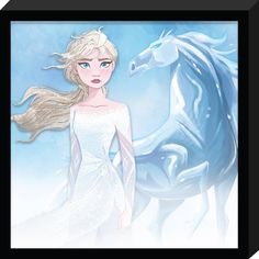 Decorate your child& room with this new Frozen 2 canvas with glitter wall decor! Any child would love to see both Anna and Elsa hanging in their room! Disney Princess Frozen, Elsa Frozen, Disney Fan Art, Cute Disney, Disney And Dreamworks, Disney Pixar, Scarlet, Frames On Wall, Framed Wall