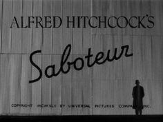 Saboteur (1942) movie title