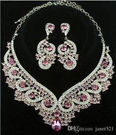 2016 Vintage Palace Chokers Earrings Set Flowers Chunky Necklaces Alloy Acrylic Rhinestone Statement Necklaces Party Jewelry From Janet521, $16.69 | Dhgate.Com