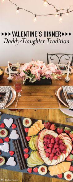 This Valentine's daddy and daughter dinner tradition is so cute to celebrate at home with the family! This easy dinner with food and table decorations from Cost Plus World Market is sure to impress the little girl's in your life. Family Valentines Dinner, Daddy Valentine, Valentines For Daughter, Valentines Food, Valentine Stuff, Easy Dinners For Kids, Easy Dinner Recipes, Daddy Daughter Dance, Date Dinner