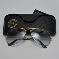 789d9fbe93 Details about VINTAGE RAY BAN B L Aviator OUTDOORSMAN GOLD 58 mm 14 mm US  Frame NOS New 24K GP