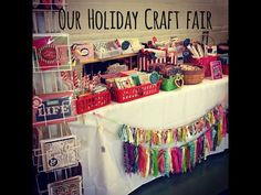 Our Holiday Craft Fair - YouTube