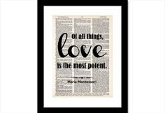 Of All Things Love Is The Most Potent  Maria by BluePoppyGallery, $7.95