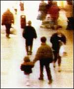 James Patrick Bulger was a boy from Kirkby, England, who was murdered on 12 February 1993, when aged two. He was abducted, tortured and murdered by two ten-year-old boys, Robert Thompson and Jon Venables.   His mutilated body was found on a railway line two days after his murder. Thompson and Venables were charged on 20 February 1993 with Bulger's abduction and murder.  The pair were found guilty on 24 November 1993, making them the youngest convicted murderers in modern English history.