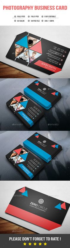 Photography Business Card - Creative Business Card Template PSD. Download here: http://graphicriver.net/item/photography-business-card/12388420?s_rank=1796&ref=yinkira