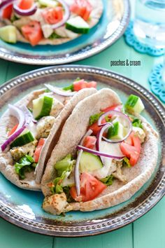 Peaches & Cream: Chicken Gyros. We use NSM lamb kebabs often, but this looks lighter