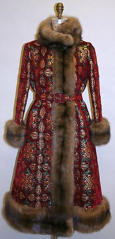 Evening coat - Norman Norell 1970