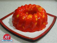 gelatina de mango con chamoy
