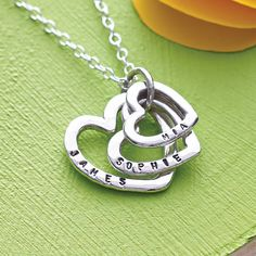 Personalised Family Names Heart Necklace from notonthehighstreet.com