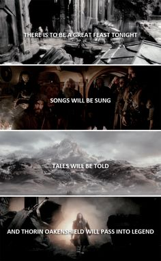There is to be a great feast tonight. Songs will be sung, tales will be told and Thorin Oakenshield will pass into legend. #thehobbit