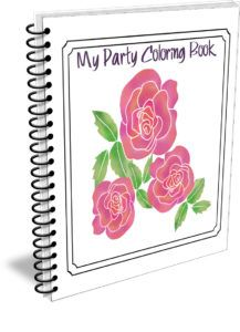 My Party Coloring Book Plr Package Georgia Mountain Arts Plr Colorful Party Coloring Books I Party