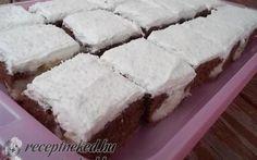 Kókuszos-foltos kocka (bögrés) recept Karamella konyhájából - Receptneked.hu Cake Cookies, Feta, Cheesecake, Goodies, Pie, Sweets, Baking, Recipes, Drink