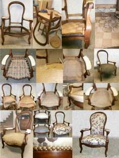 Diy Furniture Upholstery, Paint Upholstery, Refurbished Furniture, Furniture Makeover, Painted Furniture, Upholstered Box Springs, Upholstered Chairs, Antique Radio Cabinet, Diy Tufted Headboard