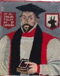 Nicholas Ridley (1503 - 1555) -Ridley was private chaplain to Archbishop Thomas Cranmer & then to King Henry VIII. Under the reign of Edward, he became bishop of London, & was part of the committee that drew up the first English Book of Common Prayer. When Mary came to the throne, Ridley was arrested, tried & burned at the stake with Hugh Latimer.