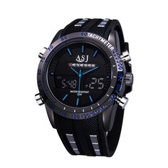 relogios masculinos 2016 ASJ Outdoor Blue Sports Watch Men Digital Watches Military Male Army Clock Quartz Mens LED Wristwatches