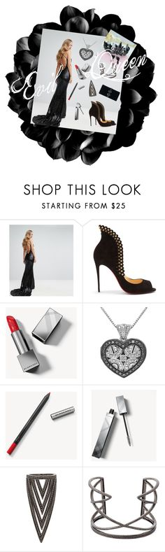 """Evil Queen"" by chiconfleek01 on Polyvore featuring BARIANO, Christian Louboutin, Burberry, Lynn Ban, Joëlle Jewellery and Dsquared2"
