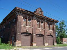 Abandoned fire station in Toledo, Ohio