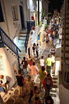 Mykonos by night, Greece. #mykonos #greece #yoga www.yoga-escapes.com