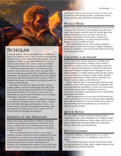DnD Homebrew — Scholar Class by wdalright Game Bit, Dnd Classes, Dnd Races, Dnd 5e Homebrew, Dragon Rpg, Dungeons And Dragons Homebrew, Dnd Monsters, Dragon Party, Tabletop Rpg