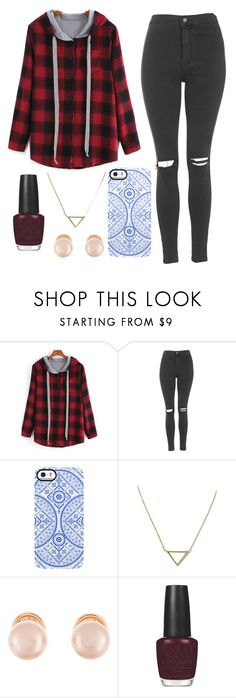 """""""Untitled #1453"""" by disney-wattpad-theme ❤ liked on Polyvore featuring Topshop, Uncommon, Banana Republic, Kenneth Jay Lane and OPI"""