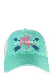 Simply Southern Hats Turtle Arrow Trucker Hat in Seafoam Green HAT-TURTLE-SEAFOAM