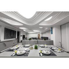 Minimalist-futuristic dining room, yay or nay? #rumahkudiningroom