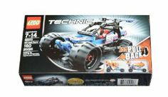 LEGO Technic Off-road Racer 42010 by LEGO. $30.50. LEGO Technic Off-road Racer 42010. Pieces:160. Features cool, colorful styling and pull-back motor. Includes the first pull-back motor ever featured in a LEGO Technic building set. Pull back, release and race. ?Combine with the 42011 Race Car for a super-fast Dragster with pull-back motor, adjustable rear wing and opening cockpit.