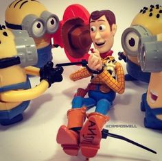 Woodie and minions