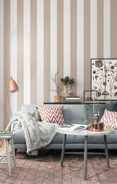 Self adhesive vinyl wallpaper, wall decal - Stripe wallpaper pattern print - 103 SNOW/ CHAMPAGNE by Betapet on Etsy https://www.etsy.com/listing/243783520/self-adhesive-vinyl-wallpaper-wall-decal