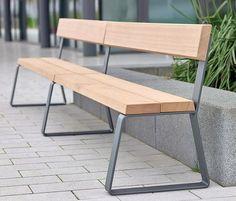 Campus levis Bench extending module by Westeifel Werke | Exterior benches